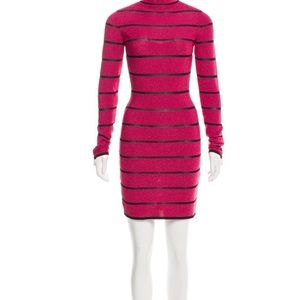 Balmain metallic mini dress